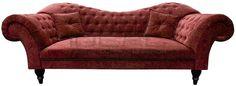 czerwona sofa chesterfield, red chesterfield, pluszowa sofa chesterfield, velvet chesterfield, styl angielski, armchair   karmazyn, ceglana, perpur Sofa Chesterfield_Madame_5.jpg (1200×439)