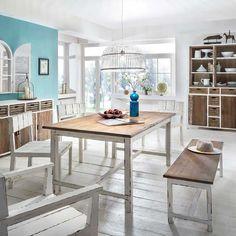 Esszimmertisch In Weiß Holz Shabby Chic Jetzt Bestellen Unter:  Https://moebel.