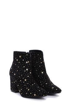 Oh look, it's come true. The Make a Wish Boot comes in vegan suede and features a low block heel, pointed toe, star detailing, and inside zip closure. Pretty Shoes, Cute Shoes, Me Too Shoes, Fall Outfits, Cute Outfits, Star Boots, Fashion Shoes, Fashion Outfits, Crazy Shoes