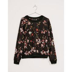 Floral print neoprene sweatshirt - Woman - Bershka Israel ❤ liked on Polyvore featuring tops, hoodies, sweatshirts, neoprene sweatshirt, floral sweatshirts, flower print tops, bershka and floral print tops