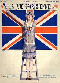La Vie Parisienne Illustration by Georges Leonnec August 1928