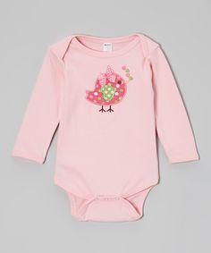 Pink Heart Bird Bodysuit - Infant | Daily deals for moms, babies and kids