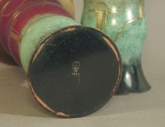 Pair Art Deco/Moderne WMF Patinated Brass Vases | From a unique collection of antique and modern vases at http://www.1stdibs.com/furniture/more-furniture-collectibles/vases/