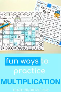 Your third grade students need plenty of opportunities to master the multiplication facts. Once you've introduced the multiplication concept with multiplication arrays and making groups and taught mental math strategies, it is time to provide meaningful practice with multiplication games. This set of multiplication games are perfect for math centers and can be used by single players or a small group.