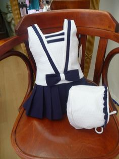 this is so sweet Stylish Dresses For Girls, Little Girl Dresses, Cute Dresses, Girls Dresses, Toddler Fashion, Kids Fashion, Super Moda, Baby Couture, Sailor Dress
