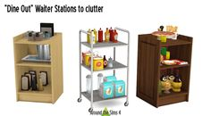 The Sims 4 | ATS4 GP03 Dine Out Waiter Stations to Clutter | buy mode new objects surfaces slots added
