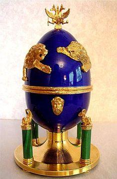 """(3) FABERGE eggs__Theo Fabergé __ """" Samson Egg"""