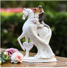 customse name for you bride and groom on the horse wedding cake topper with diamond rhinestones wedding gifts favors home decor