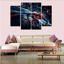 4 Pcs Arte Da Parede Do Homem Aranha HD Imagem Casa Decoração Sala de estar Da Lona Posters Pintura do Retrato Da Parede Impressão Em Tela //Price: $US $15.19 & FREE Shipping //    #vingadores #ageofultron #marvel