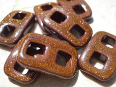 New Bronze Instant Clasp AllOnePiece Brown Toggle by Jamnglass, $3.00