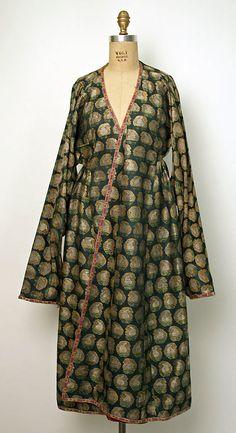 Coat, Date: 19th century Culture: Asian, Central (Bokharan) Medium:  silk, metallic