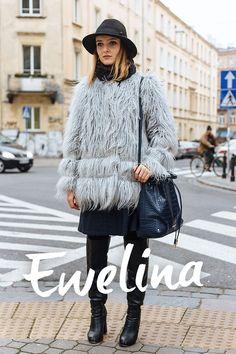 Street Style Warsaw Warsaw, Lace Skirt, Fur Coat, Street Style, Skirts, Room, Jackets, Fashion, Moda