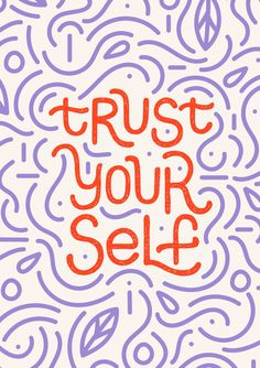 Trust Yourself - Motivational Wall Art, wall decor design motto minimal art nordic swiss inspiration motivation Motivational Prints,