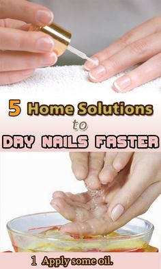 5 Home Solutions to Dry Nails Faster - ActiveCures. All Things Beauty, Girly Things, Girly Stuff, Homemade Beauty, Diy Beauty, Dry Nails Fast, Hair Loss Causes, Dry Nail Polish, Get Nails