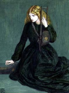 Dante Gabriel Rossetti - The Harp Player, a study of Annie Miller