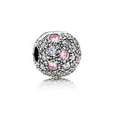 PANDORA pale pink cosmic stars clip will bring a vibrant touch of color to your charm collection. #PANDORAcharm