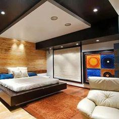 Dinámico #diseñointerior basado en los multiples detalles revestimientos y colores generando una habitación moderna Ve mas #ideas para #remodelar en: arquitecturacreativa.blogspot.com Siguenos también...