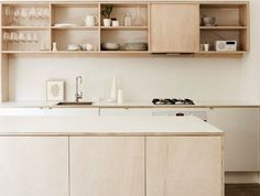Check out this kitchen made from plywood...+kaboodle kitchen