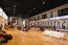 Arrival & departure hall of Nîmes airport
