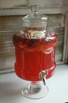 Cranberry juice lemonade gingerale fresh cranberrys lemons & what ever else ur <3 desires