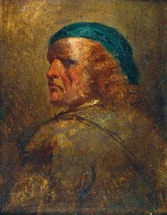 an Piotr NORBLIN DE LA GOURDAINE (1745-1830)  Wizerunek własny? olej, deska; 27 x 21,5 cm;