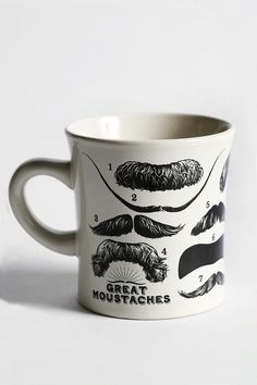 Mustache Mug from Urban Outfitters. Shop more products from Urban Outfitters on Wanelo. Urban Outfitters, Dinnerware Sets, Mug Shots, Cool Stuff, Stuff To Buy, Awesome Things, Funny Things, Beautiful Things, Christmas Gifts