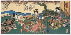 Elegant Spring Pastimes, Utagawa Kunisada, mid-19th century, The Los Angeles County Museum of Art