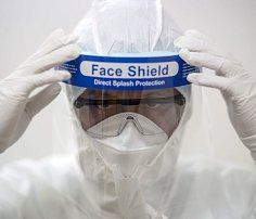 Full facial safety face shield protect you from spray and splatter, it needs to cooperat with a mask to provide effective protection. Cleaning Spray, Clear Face, Plastic Animals, Wuhan, Animal Faces, Elastic Headbands, Beauty Supply, Thailand, Medical