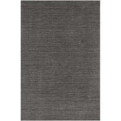 Maybe simple is better?  It will last longer through whatever changes we make to throw pillows etc... Hand-woven Solid Grey Wool Rug (8' x 10')