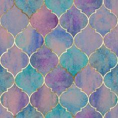 Vintage decorative moroccan seamless pattern with gold line. Vintage decorative moroccan seamless pattern with gold line. Teal Wallpaper, Geometric Wallpaper, Pattern Wallpaper, Purple Backgrounds, Abstract Backgrounds, Wallpaper Backgrounds, Wallpapers, Moroccan Pattern, Seamless Textures
