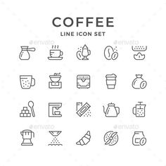 Set Line Icons of Coffee for $7 Envato #icon #GraphicDesign #design #IconDesig - Coffee Icon - Ideas of Coffee Icon #coffeeicon #coffee - Set Line Icons of Coffee for $7 Envato #icon #GraphicDesign #design #IconDesign #BestDesignResources