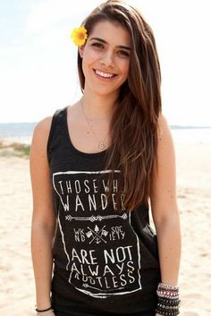 Those who wander...  --------------------------------------------------------  This tri-black tank features a nice loose drape perfect for the summer heat or for layering, made from our soft Tri-Blend fabric and featuring a distressed print for a vintage look.    Tri-Blend (50% Polyester /...