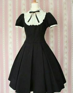 Characters: Lolita Material: Cotton and wool Includes: Dress Pretty Outfits, Pretty Dresses, Beautiful Outfits, Cute Outfits, Kawaii Fashion, Lolita Fashion, Cute Fashion, Cosplay Outfits, Dress Outfits