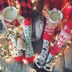 Socks: holiday season tumblr christmas pajamas cute nightwear cats