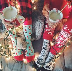 Socks: holiday season tumblr christmas pajamas cute nightwear cats