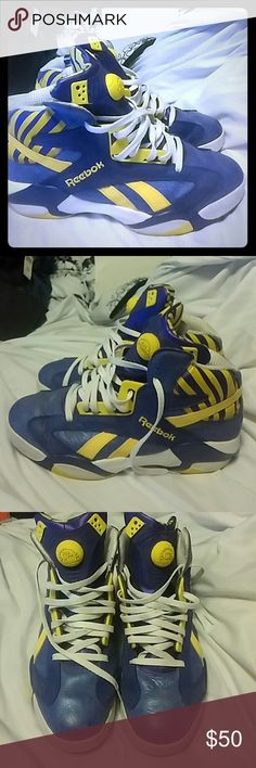Reebok Pump Shaq Attaq LSU Lakers SZ 13 A few marks here and there Reebok Shoes Sneakers