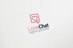Love Chat Logo by Arslan on @creativemarket