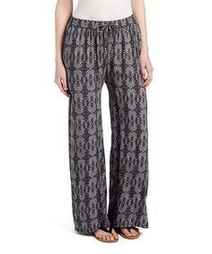 Another great find on #zulily! Charcoal Arabesque Palazzo Pants #zulilyfinds