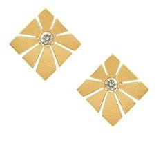 I love Hamilton Hill Antonio Bernardo, Gold Fashion, Modern Jewelry, Jewelery, Jewelry Design, Diamonds, Design Inspiration, Stud Earrings, Brass