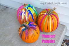 """Holly's Arts and Crafts Corner: Craft Project: Our """"Pinterest"""" Pumpkins"""