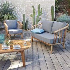 Cadeirão de jardim, acácia FSC, Julma La Redoute Interieurs - Jardim, mobiliário de jardim