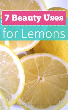7 Beauty Uses For Lemons Sponsored Link *Get more FRUGAL Articles, tips and tricks from Raining Hot Coupons here* Repin It Here 7 Beauty Uses For Lemons We all know how many great uses lemons have around the house, in the kitchen and even in DIY projects. But have you considered using lemons in your …
