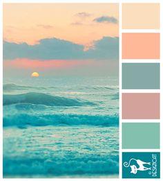 Beautiful Turquoise Teen Bedroom Designs Bedroom ideas for teen girls – Bedroom storage Ocean Color Palette, Peach Color Palettes, Ocean Colors, Colour Pallete, Peach Colors, Sunset Palette, Calming Colors, Bedroom Color Schemes, Colour Schemes