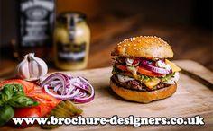 gourmet burger image suitable for gourmet burger menu design www.brochure-designers.co.uk #gourmetburger #burger #burgermenu