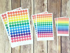 96 Colorful Dot Stickers – Perfect for Erin Condren, Plum Paper Planner, Inkwell Press, Filofax, Scrapbooking & More