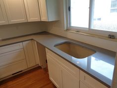 Steel Grey/Bianco Picasso - South Bend IN    -  http://www.amfgranite.com/quartz-countertops-projects/steel-greybianco-picasso-south-bend-in/