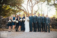 Navy Blue Wedding Ideas - Rustic Wedding Bridal Party - Graf Barn in Oxnard - Zelo Photography - see more at www.zelophotoblog.com/blog