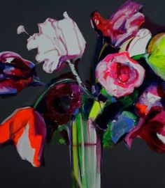 "Saatchi Art Artist Patricia Derks; Painting, ""Flowertime"" #art"