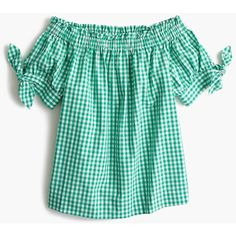 J.Crew Petite Off-The-Shoulder Top ($78) ❤ liked on Polyvore featuring tops, petite, one sleeve top, off the shoulder tops, green top, green one shoulder top and one shoulder tops