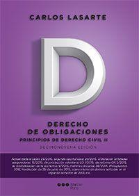 Principios de derecho civil. T. 2, Derecho de obligaciones / Carlos Lasarte.    19ª ed.    Marcial Pons, 2015